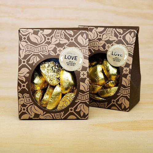Milk Chocolate Heart Box 20 Units - Gold
