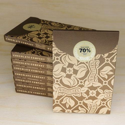 70% Dark Chocolate Bar 200g