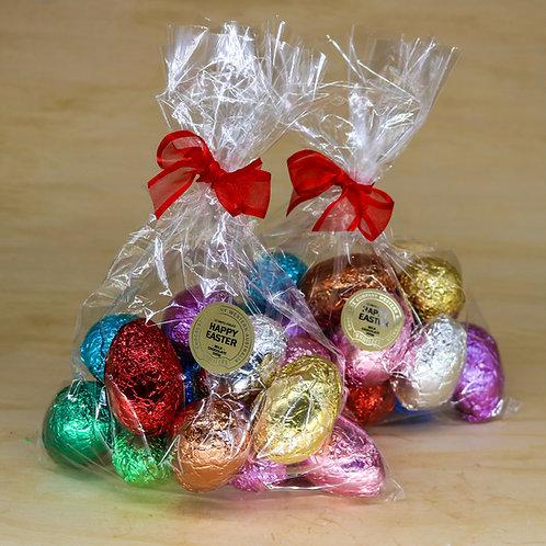 12 Foiled Easter Eggs Cellophane Bag