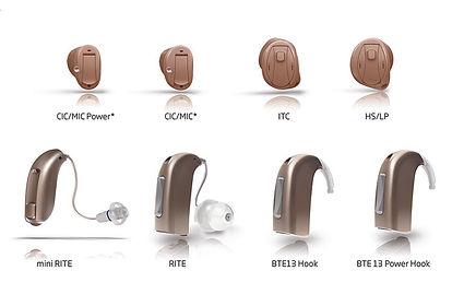 hearing aid styles custom canal mini RITE