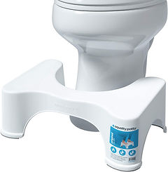 Squatty potty to protect pelvic floor