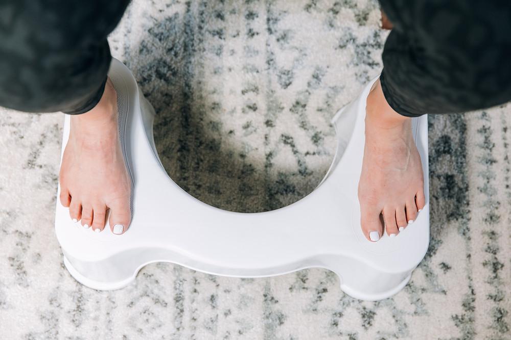 Squatty potty to improve bowel function
