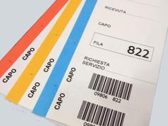 Stampa barcode su foglio etichette e modulo continuo.