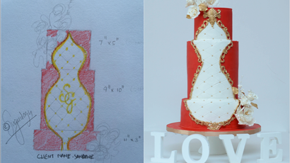 From sketch to cake