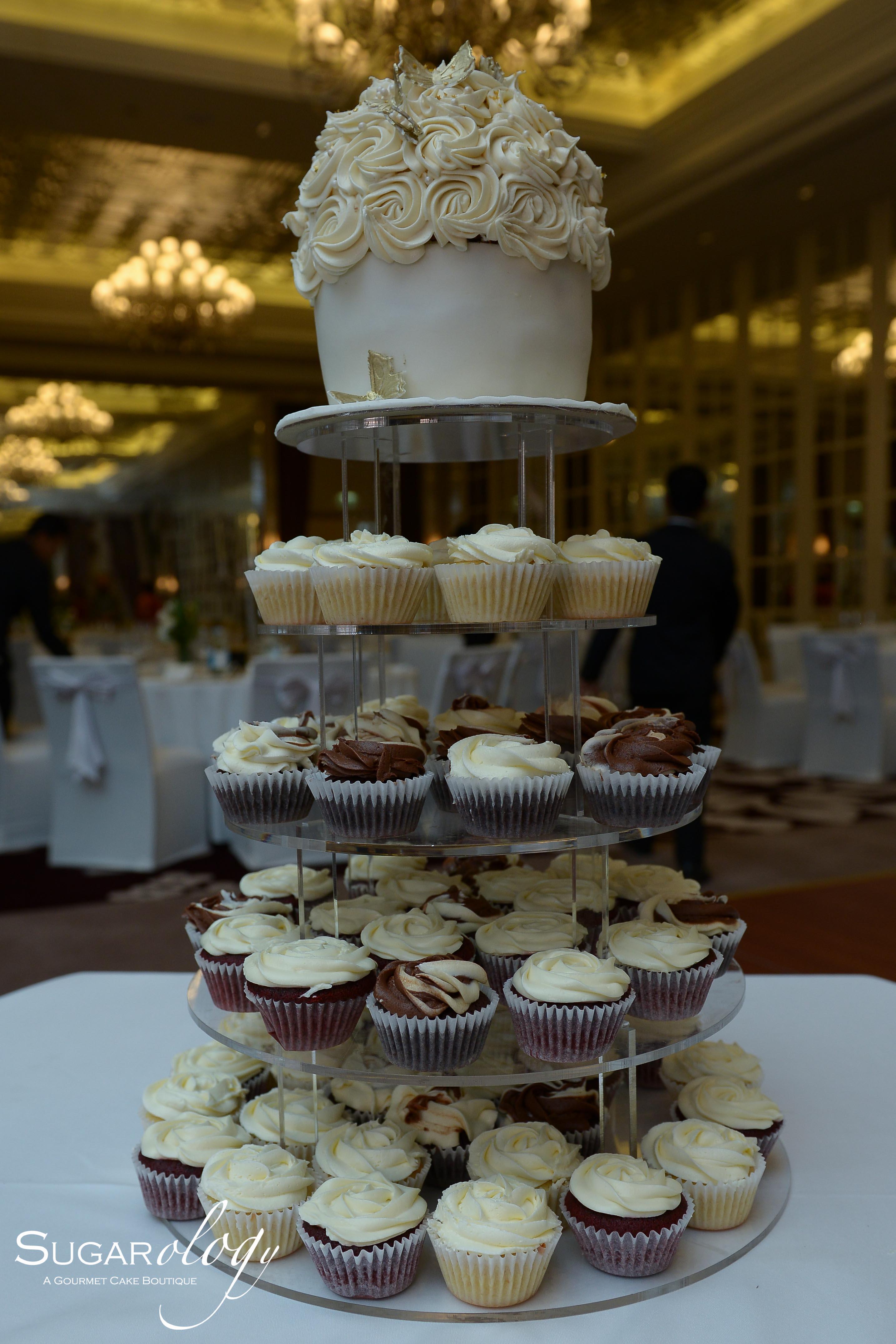 Giant Cupcake tower wedding cake