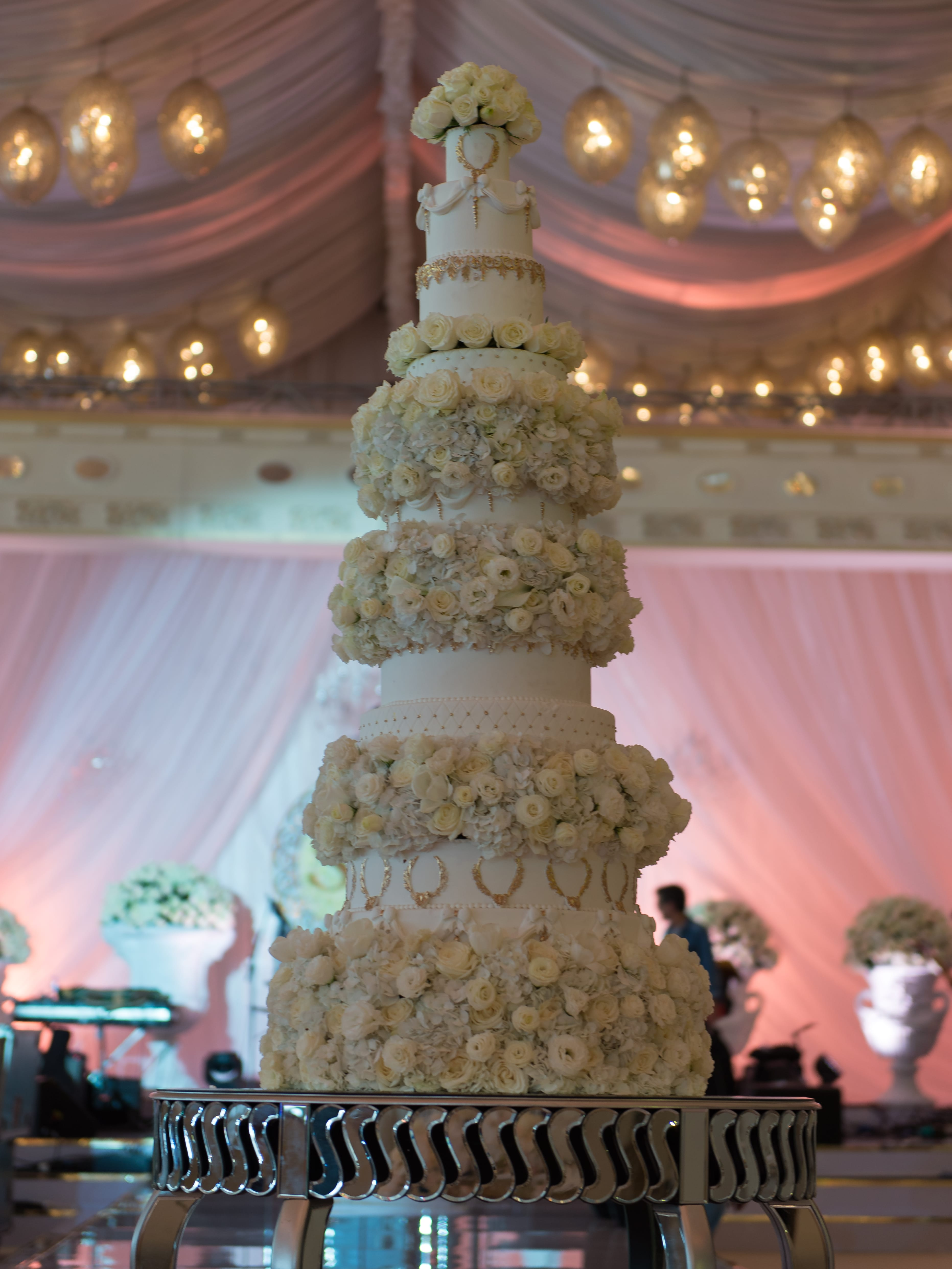 One and half meter tall wedding cake