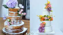 Wedding Cake : Real Flowers vs Sugar Flowers