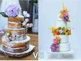 Wedding Cake : Real Flowers vs Sugar Flowers