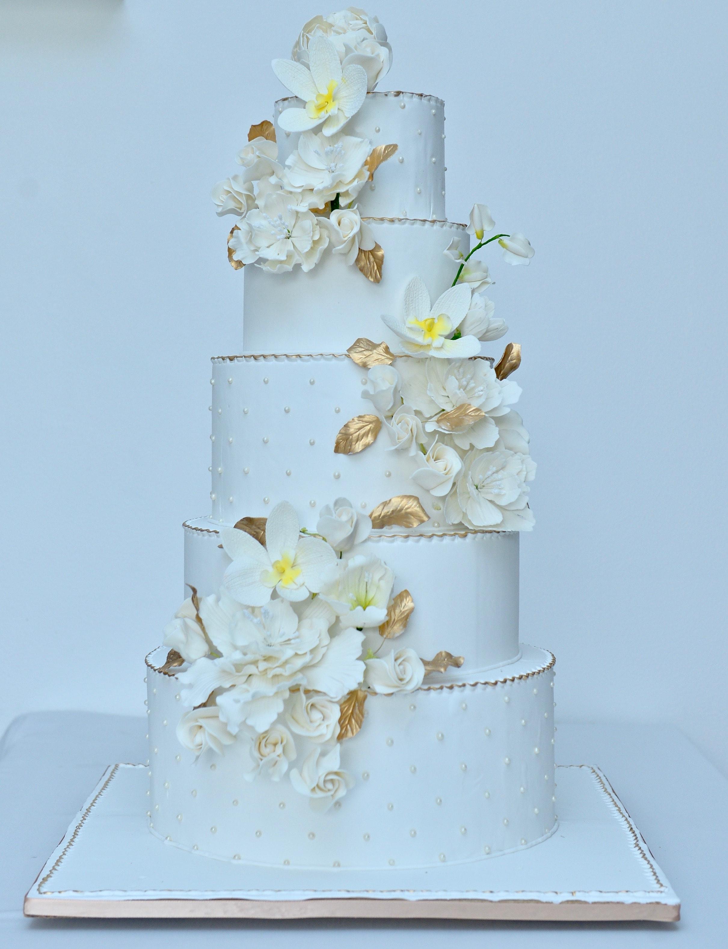 5 tier cake