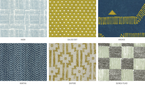 all fabrics handcrafted patterns, tissus motifs faits main, décoration