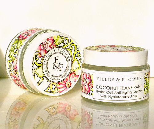 Coconut Frangipani Hydra Cell Anti Agining Creme With Hyaluronic Acid