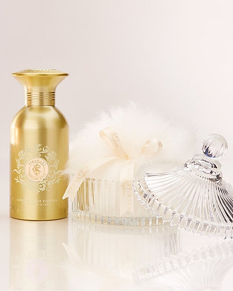 Tiramani Body & Linen Powder Talc Free Gift Set with Large Puff and Crystal Dish
