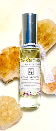 Citrine Throne Oil - Sacral Chakra - Balancing -Normal to Oily Skin