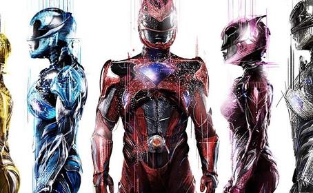 Cinq affiches pour la mise en vente des billets des Power Rangers