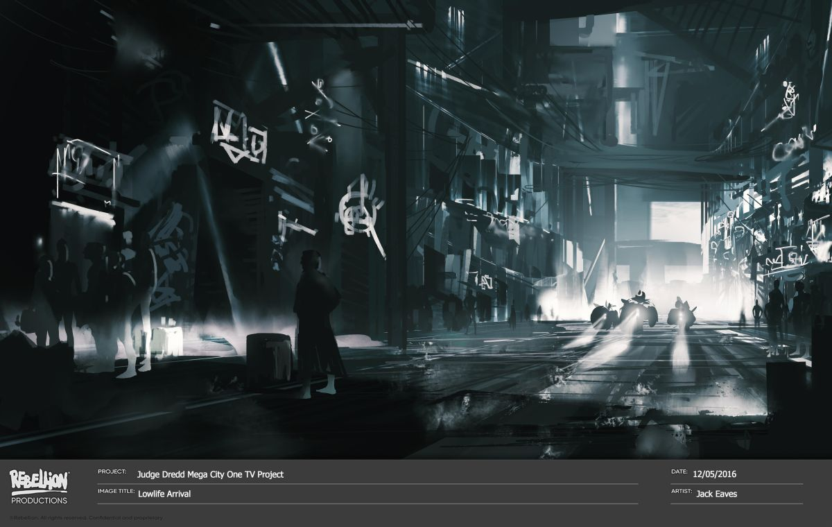 Concept art Judge Dredd Mega City One 2