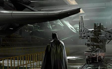 Un concept-art dévoile l'avion de Batman dans Justice League