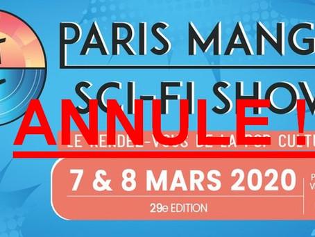 Paris Manga & Sci-Fi Show : la 29ème édition annulée