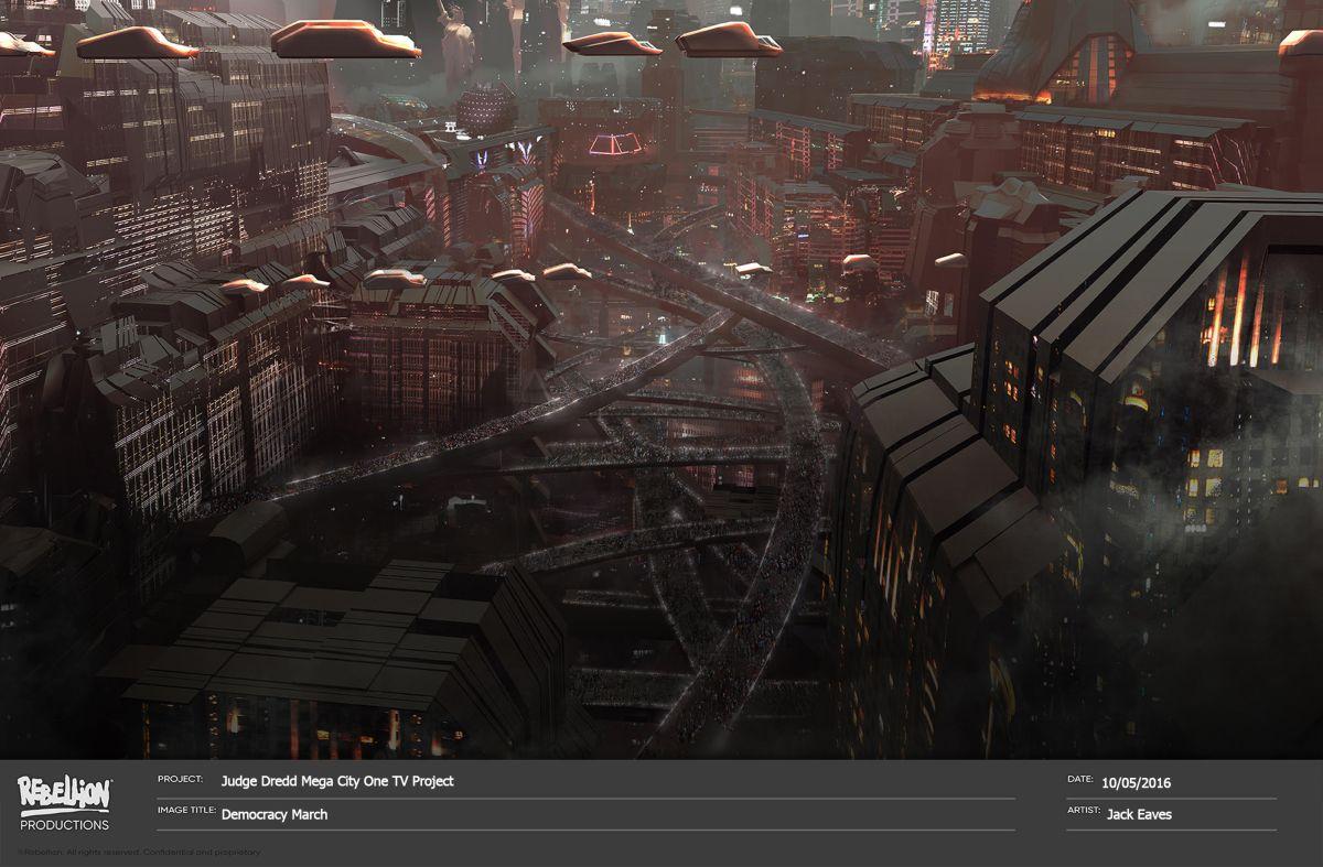 Concept art Judge Dredd Mega City One 3