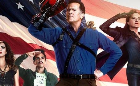 Affiche patriotique pour Ash vs Evil Dead saison 2