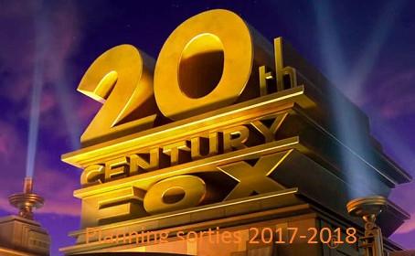 La 20th Century Fox met à jour son planning de sorties pour 2017 et 2018