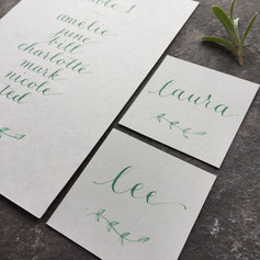 Table plan card with place cards