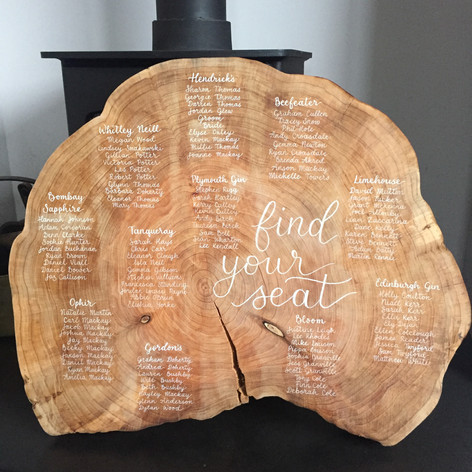 Wood slice table plan