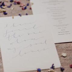Modern calligraphy psalm