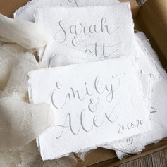 Modern calligraphy gift tags