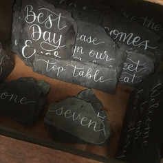 Slate wedding signs