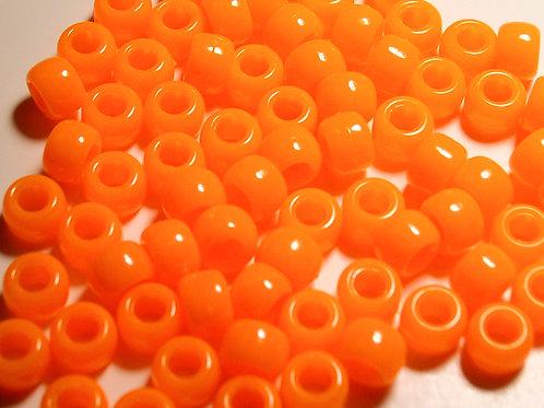 Opaque Orange Pony Beads