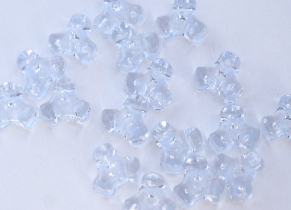 Transparent Ice Blue Tri Beads