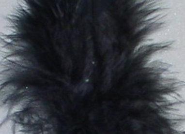 "Black Plumage Feathers (3"")"