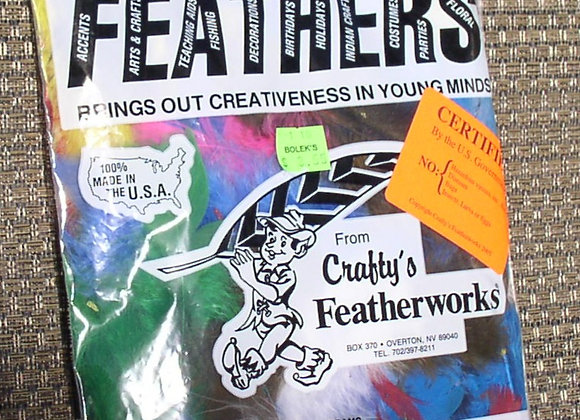 """Assorted Flats Feathers (5""""to 7"""")"""