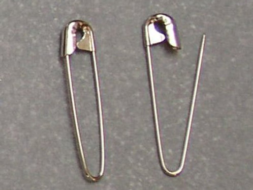 "1.25"" Silver Coiless Safety Pins"