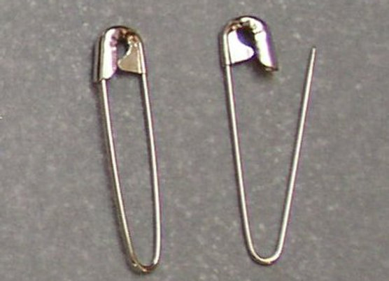 """1.25"""" Silver Coiless Safety Pins"""
