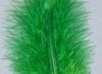 """Kelly Green Flats Feathers (5""""to 7"""")"""
