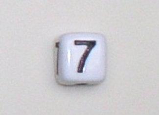 12mm x 12mm Cube Alphabet Beads -7
