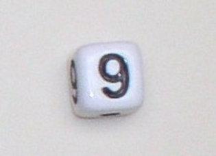 12mm x 12mm Cube Alphabet Beads -9