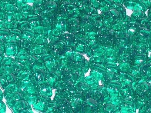 Transparent Christmas Green Pony Beads