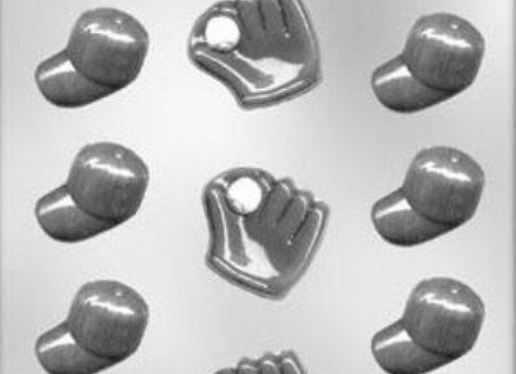 Baseball Caps/Gloves Chocolate Mold