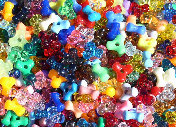 Assorted Colors Tri Beads
