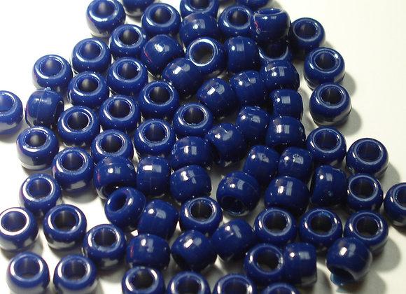 Opaque Navy Blue Pony Beads