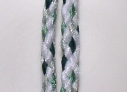 6mm Braided Macramé Cord - White/Forest/Sage/Misty Green
