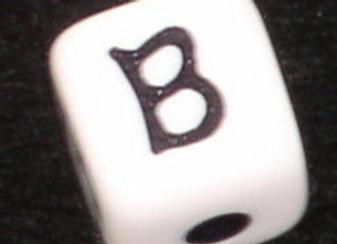 12mm Acrylic Cube Alphabet Beads