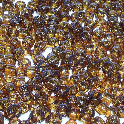 Transparent Amber Pony Beads