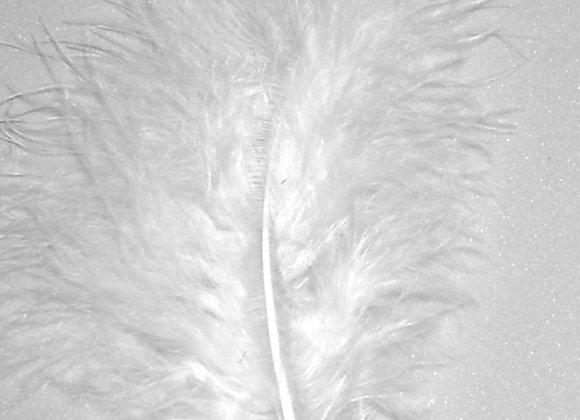 """White Marabou Feathers (5""""to 6"""")"""