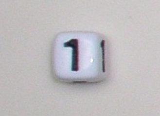 12mm x 12mm Cube Alphabet Beads - 1