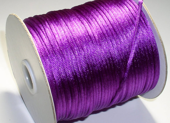 Purple Rattail 2mm