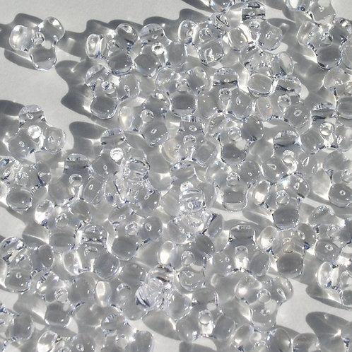 Transparent Crystal Tri Beads