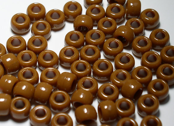 Opaque Brown Pony Beads